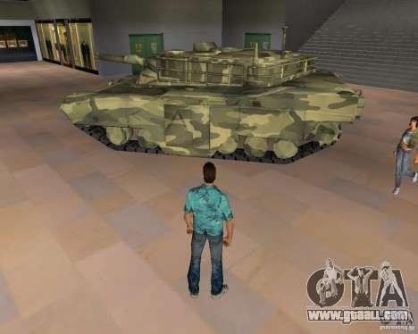 Camo tank for GTA Vice City second screenshot