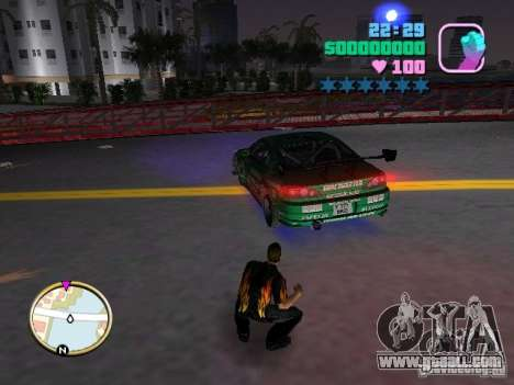 Nissan Silvia S15 Kei Office D1GP for GTA Vice City back left view