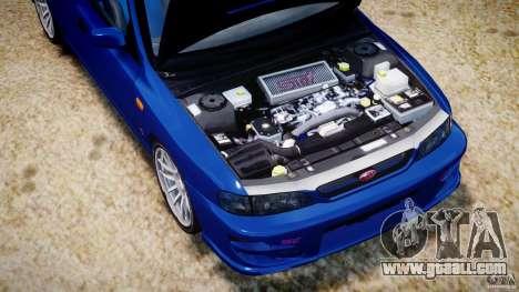 Subaru Impreza WRX STI 1999 v1.0 for GTA 4 inner view