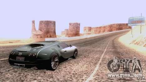 Bugatti ExtremeVeyron for GTA San Andreas back view