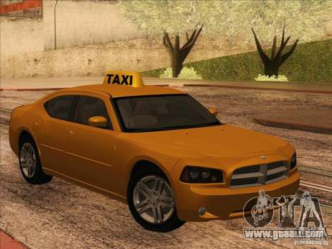 Dodge Charger STR8 Taxi for GTA San Andreas left view