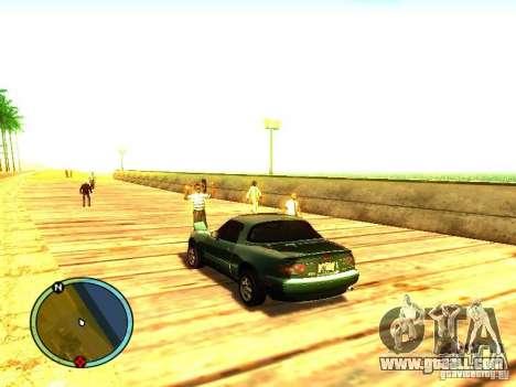 Mazda Miata 1994 for GTA San Andreas back left view