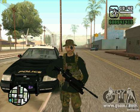 Skin Praice from COD 4 for GTA San Andreas second screenshot