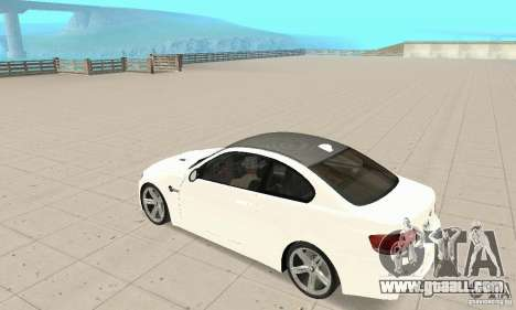 BMW M3 2008 for GTA San Andreas side view