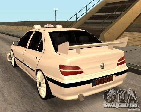 Peugeot 406 Taxi 2 for GTA San Andreas back left view