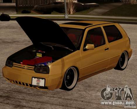 VW Golf MK 4 low & slow for GTA San Andreas back left view
