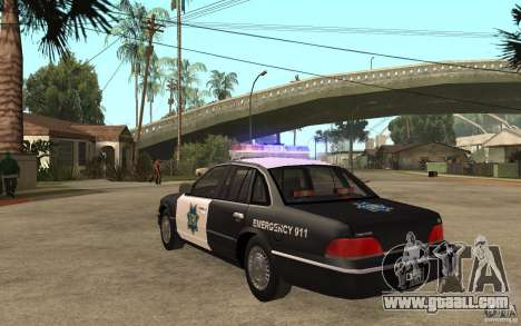 Ford Crown Victoria SFPD 1992 for GTA San Andreas back left view