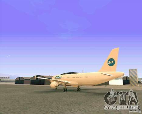 Airbus A-320 airline UTair for GTA San Andreas right view