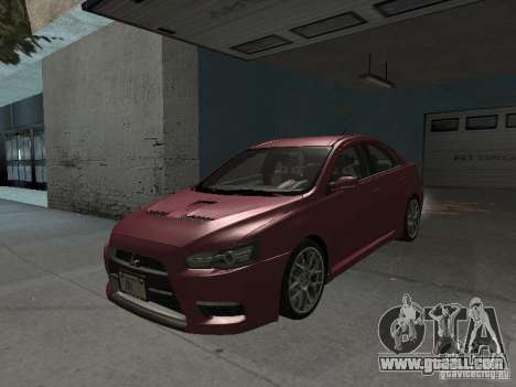 Mitsubishi Evolution X Stock-Tunable for GTA San Andreas upper view