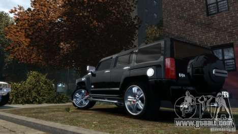 Hummer H3 2005 Chrome Final for GTA 4 left view