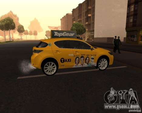 Lexus CT 200h 2011 Taxi for GTA San Andreas right view