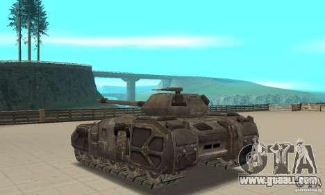 Rhino Tank-UT for GTA San Andreas back left view