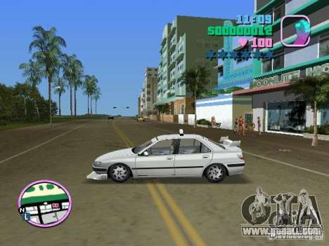 Peugeot 406 Taxi for GTA Vice City back left view