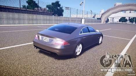 Mercedes-Benz CLS 63 for GTA 4 upper view