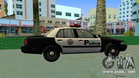 Ford Crown Victoria Police 2003 for GTA Vice City back left view
