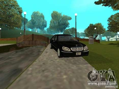 Mercedes-Benz S600 Biturbo 2003 v2 for GTA San Andreas left view