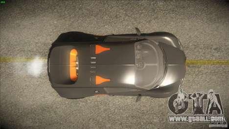 Bugatti Veyron Super Sport for GTA San Andreas interior