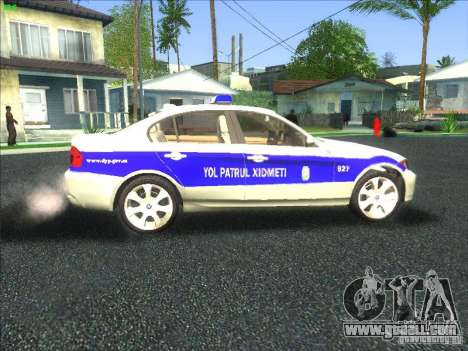 BMW 330i YPX for GTA San Andreas inner view