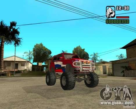 VAZ-21213 4x4 Monster for GTA San Andreas inner view