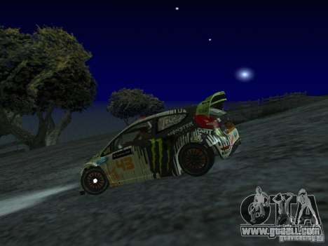 Ford Fiesta Ken Block WRC for GTA San Andreas left view