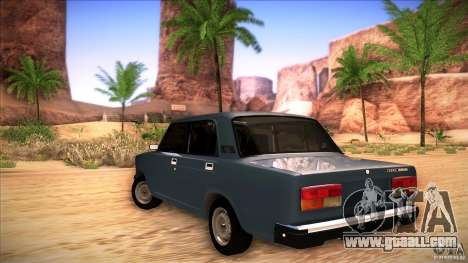 VAZ 2107 for GTA San Andreas back left view
