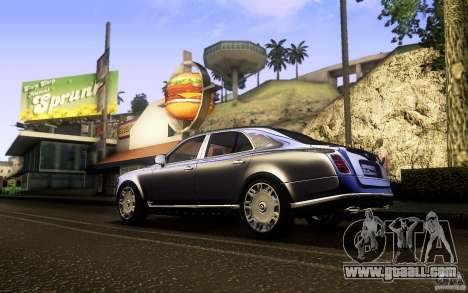 Bentley Mulsanne 2010 v1.0 for GTA San Andreas