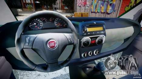 Fiat Fiorino 2008 Van for GTA 4 back view