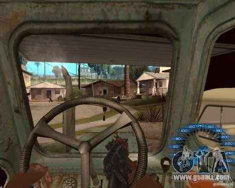 Behind the wheel for GTA San Andreas