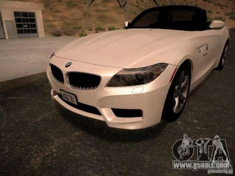 BMW Z4 sDrive28i 2012 for GTA San Andreas interior