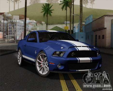 Ford Shelby GT500 Super Snake 2011 for GTA San Andreas upper view