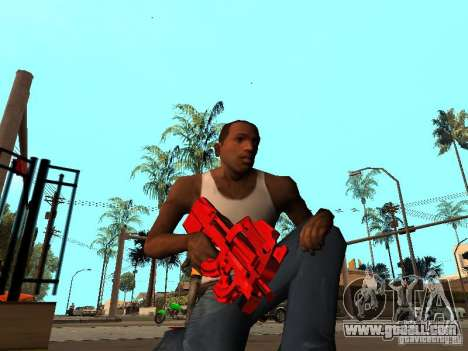 Red Chrome Weapon Pack for GTA San Andreas third screenshot