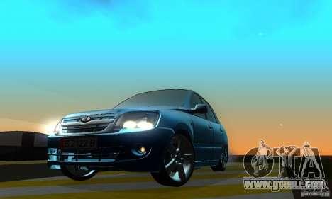 Lada Granta Light Tuning for GTA San Andreas back left view