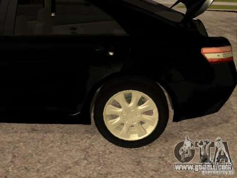 Toyota Camry 2010 for GTA San Andreas inner view