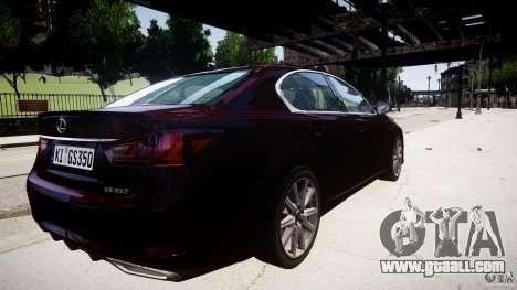 Lexus GS350 F Sport 2013 for GTA 4 inner view