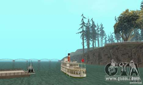 RMS Segwun Ferry for GTA San Andreas left view