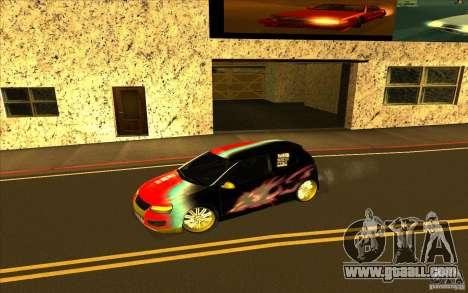 Volkswagen Golf V R32 Custom for GTA San Andreas interior