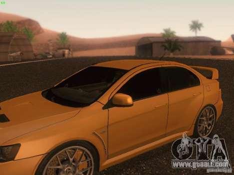 Mitsubishi  Lancer Evo X BMS Edition for GTA San Andreas wheels