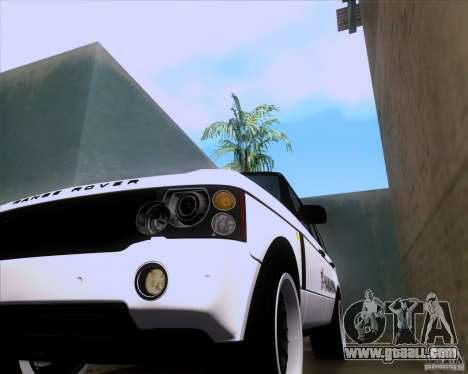 Range Rover Hamann Edition for GTA San Andreas inner view