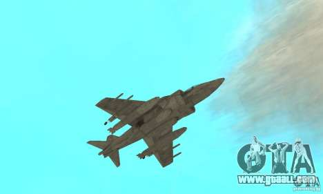 AV-8 Harrier for GTA San Andreas side view