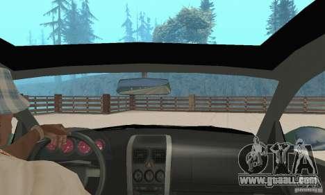 Vauxhall Monaro VXR Open SKY 2004 for GTA San Andreas back view