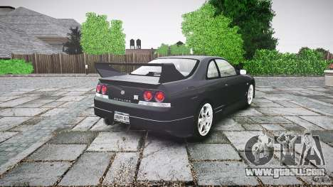 Nissan Skyline R33 for GTA 4 back left view