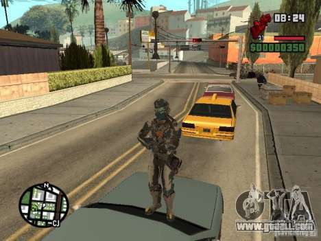 The costume of the games Dead Space 2 for GTA San Andreas