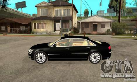 Audi A8 from Carrier 3 for GTA San Andreas left view