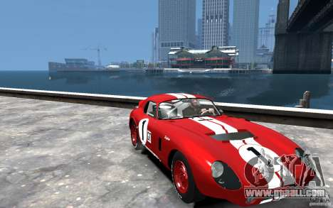 Shelby Cobra Daytona Coupe 1965 for GTA 4 back view