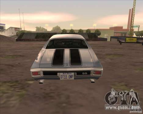 Chevrolet Chevelle SS for GTA San Andreas left view
