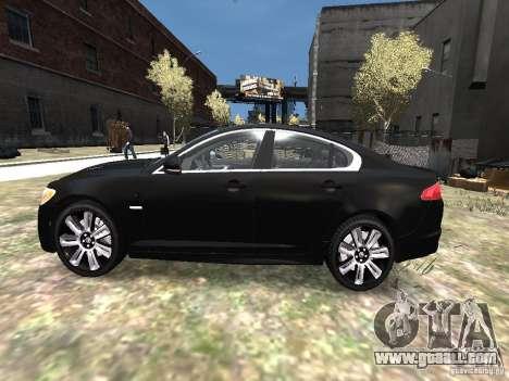 Jaguar XFR for GTA 4 left view