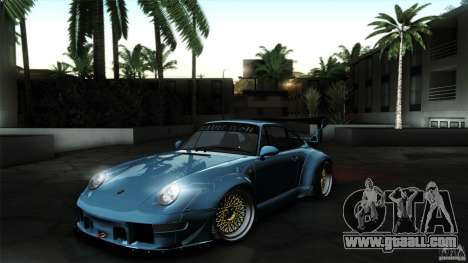 Porsche 993 RWB for GTA San Andreas back left view