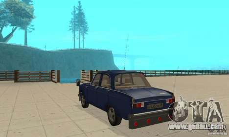 Moskvich 412 with tuning for GTA San Andreas back left view
