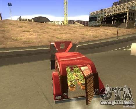 Custom Woody Hot Rod for GTA San Andreas back left view