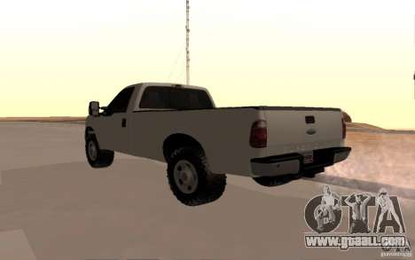 Ford F-250 for GTA San Andreas back left view